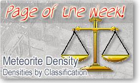 Meteorite Densities