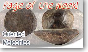 Oriented Meteorites